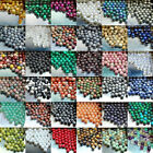 30pcs Natural Gemstone Round Spacer Loose Beads Lot Free Shipping 4mm