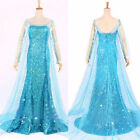 Купить NWT Movies Frozen Snow Queen Elsa Cosplay Costume Dress tailor Adult Fancy с доставкой по россии и снг