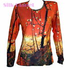 VINCENT VAN GOGH JAPANESE PLUM TREE PAINTING LS T SHIRT ASIAN FINE ART PRINT *