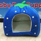 Foldable Soft Warm Strawberry Kennel Bed Nest House For Pet Dog Cat Piggy+Mat -H