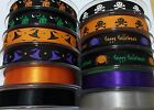 Halloween Ribbon Skull Hats Haunted House Spider & Plain Satin Berisfords