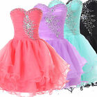 Strapless Short Prom Banquet Cocktail Evening Party Homecoming Graduation Dress