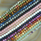 "4mm Natural Gemstones Round Spacer Loose Beads 15"" ~ 16"" Pick Stone"