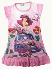 Disney Little Mermaid Ariel Enfants Filles Jupe Pyjama Robe Girls 3-10 ans Rose