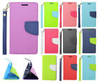 For LG Optimus F6 D500 MS500 Premium Leather 2 Tone Wallet Case Pouch Flip Cover