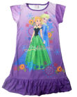 Disney Frozen Elsa Anna Enfants Filles Jupe Pyjama Robe Girls Dress 3-10Y Violet