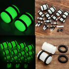 Pair 14G-00Ga Acrylic Glow in the Dark O-Ring Tunnels Ear Plugs Expander Earlets