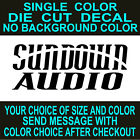 Sundown Audio Car Stereo Vinyl Decals. Car, Window, Toolbox  Sticker