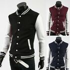 NEW Mens Boys Varsity Letterman Jacket  Baseball Outer Wear Slim Fit Blazer Coat