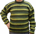 SALE - FAIR TRADE NEPALESE STRIPED CREW NECK  WOOL JUMPER HIPPY BOHO FESTIVAL