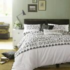 Celebrity Emma Bridgewater Black Toast Dreams Love & Kisses Bedding Quilt Duvet