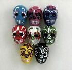 """Hand Painted Ceramic Beads, 1"""" Day of the Dead Skulls Design, Mix"""