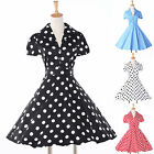 NEW 8 Style Casual Polka Dots VINTAGE 50s Party Prom Evening Ball Sundress Dress