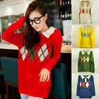5Colors Chic Womens Vintage Lapel Collar Pullover Knitting Sweater Tops Outwear