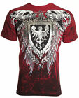 Archaic AFFLICTION Mens T-Shirt RUSE Skull Vertebrae Tattoo Biker UFC L-4XL $40