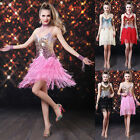 Sexy Strappy Sequins Tassel Evening Pub Prom Party Ballroom Latin Dance Dress f5