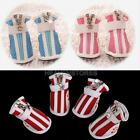 Dog Puppy Cat Pet Cozy Stylish Mesh PU Boots Booties Sneakers Sport Shoes 5 Size