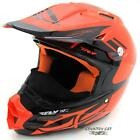 Fly Racing F2 Carbon Pro Dub Step Snowmobile Snow MX Helmet - Orange / Black
