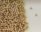 14K Gold Filled Beads Beads, 2.5mm Seamless Round Design, New