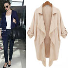 OL Style GK Women's Fashion Causal Thin Loose Open Coat Outerwear UK Size XXS~M