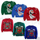 Kids Christmas Jumper Boys or Girls Rudolph Novelty Design Xmas 2-13 Years New