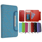 For iphone 5C Magnetic Diamonds Cover Flip Leather Wallet Card Slot Case