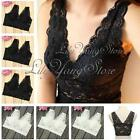 Womens Sexy Wire Free Lace Crop Top Sports Yoga Padded Leisure Vest Sleep Bra