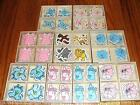 Lot 20 or 100 Baby Shower Wooden Figures Favors Wood Pink Girl Blue Boy Animal