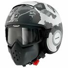 Shark Drak Kurtz Mat Grey Camo Open Face Street Fighter Helmet