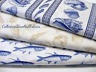 CASKATA SEASHELLS & FISH FABRIC~3 DESIGNS~U PICK~BY 1/2 YD~TIMELESS TREASURES