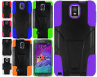 For Samsung Galaxy Note 4 Advanced KICK STAND Rubber Case Phone Cover Accessory
