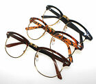 Clear Lens Costume Reading Glasses Optical Frame Nerd Black Brown Tortoise +0