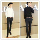 Men's Luxury Casual Slim Fit Stylish Long sleeves Bussines Shirts 4 Size