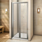 Chrome Walk In Bifold Shower Door Enclosure Glass Screen Side Panel Stone Tray