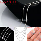 Hot Sale! Lady 925 Sterling Silver Necklace Snake Chain Jewelry Italy 1.2MM A153