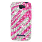 Alcatel ONETOUCH Fierce 2 Crystal Diamond BLING Hard Case Phone Cover Accessory