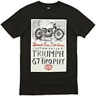 DEUS EX MACHINA TRIUMPH TROPHY TEE BLACK CUSTOM MOTORCYCLES