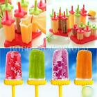 6 Cells Ice Cream Frozen Maker Mold Pop Juice Jelly Lolly Pole Tray for Popsicle