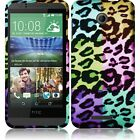For HTC Desire 510 Rubberized HARD Case Snap On Phone Cover + Screen Protector