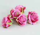 7 Colorfast Artificial Roses Silk Flower Heads Lots for Home Party Wedding Decor