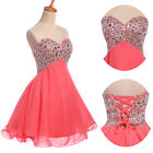 2015 BEADED Sequins CocktailBall Formal Prom Bridesmaid Party Gown Short Dress