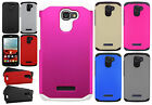 For Alcatel ONETOUCH Fierce 2 HARD Astronoot Hybrid Rubber Silicone Case Cover