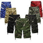 2014 New Men Casual Army Cargo Combat Camo Camouflage Overall Short Sports Pants