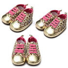 Cute Baby Newborn Toddler Infant Boy Girl Leopard Print Shoes Walking Sneaker