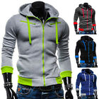 New Men Winter Slim Fit Hooded Coat Outerwear Tops Baseball Jackets Jersey STOCK