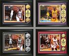 """Choose Your NBA Player 13 x 16"""" Framed Gold or Silver Medallion Coin Photo Mint"""