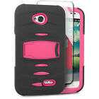 For LG Realm LS620 Hard Gel RUGGED Rubber Kickstand Case Phone Cover Accessory
