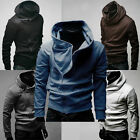Fashion Mens Casual Oblique Zipper Hoodies Sweats Jacket Outerwear Top Coats NEW