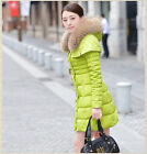 Real Raccoon Fur Collar Downcoat Down Jacket Outwear Clothing Warm Winter New