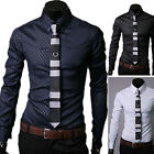 DESIGNER TOPS NEW Men Long sleeve Slim Fit Shirt Tops Casual Formal Dress Shirts